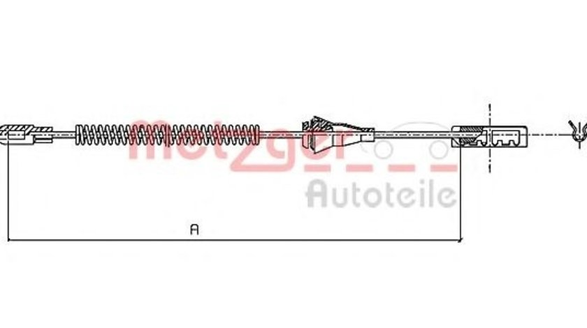 Cablu, frana de parcare OPEL ASTRA G Limuzina (F69) (1998 - 2009) METZGER 11.5959 piesa NOUA