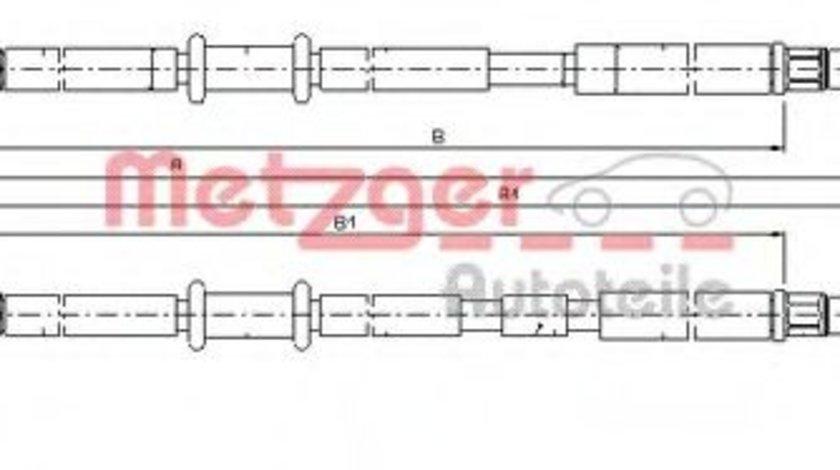 Cablu, frana de parcare OPEL ASTRA H Combi (L35) (2004 - 2016) METZGER 11.5953 piesa NOUA