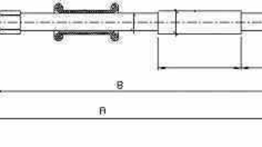 Cablu frana de parcare Producator ADRIAUTO AD112182