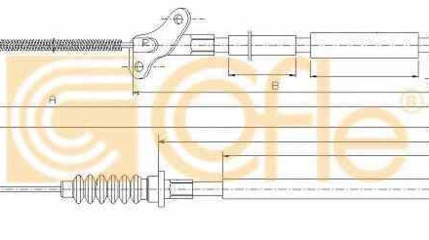 Cablu frana de parcare Producator ADRIAUTO AD140209