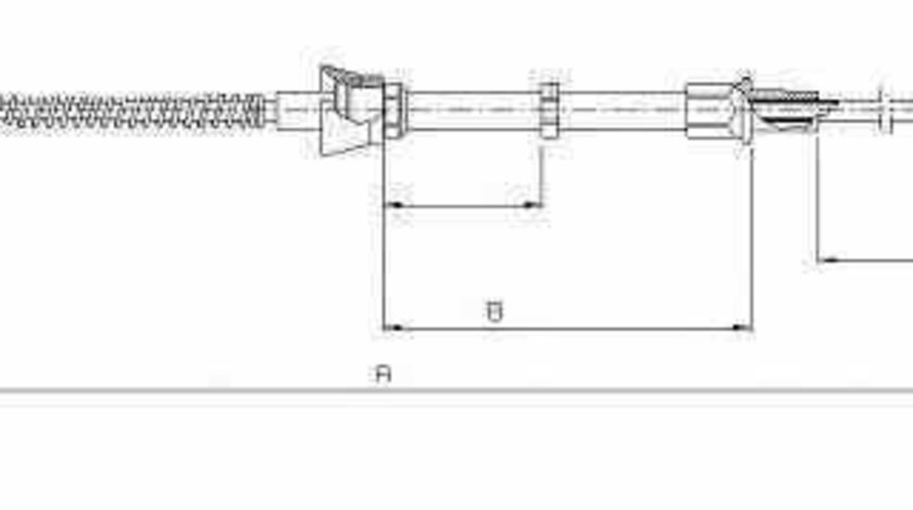 Cablu frana de parcare SEAT IBIZA V 6J5 ADRIAUTO AD552131