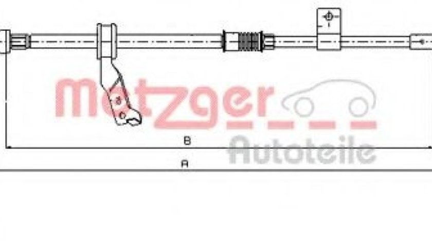 Cablu, frana de parcare TOYOTA AVENSIS Limuzina (T25) (2003 - 2008) METZGER 17.1481 piesa NOUA
