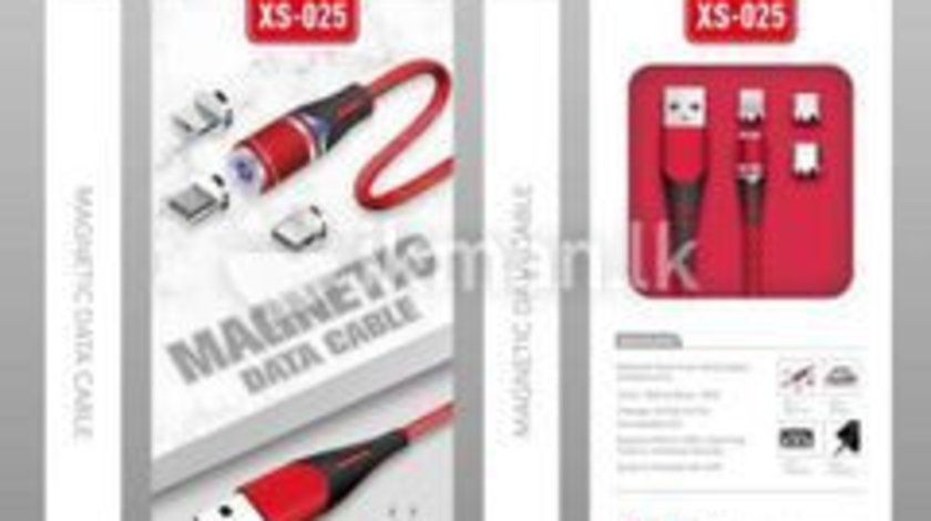 Cablu Magnetic XS-025 Fast Charge incarcare Iphone Samsung Huawei Tip C micro USB LED