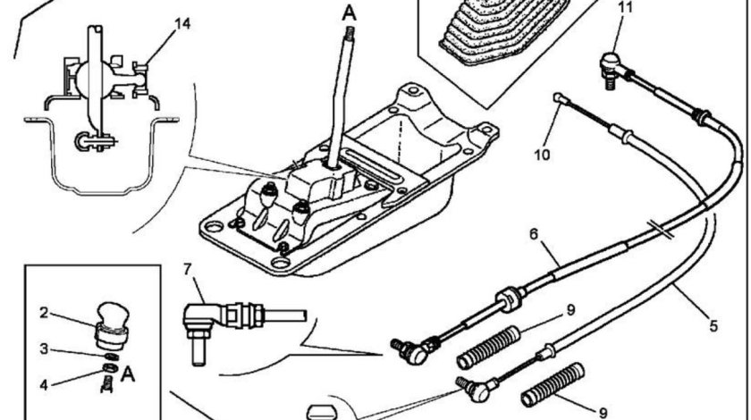 Cablu schimare viteze Renault Kerax 8x4 (poz.6) SAMPA 5001868535
