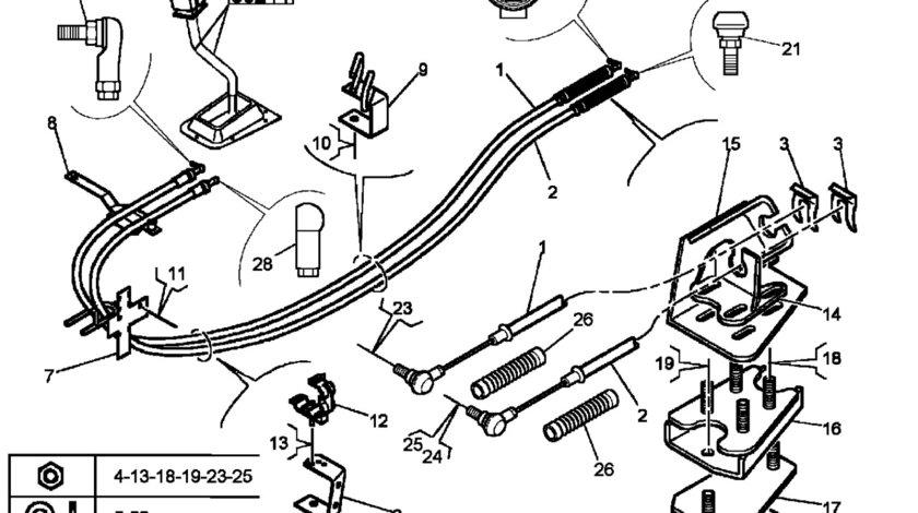 Cablu timonerie schimbator viteze Renault Magnum (poz.1) RENAULT TRUCKS 5010545474