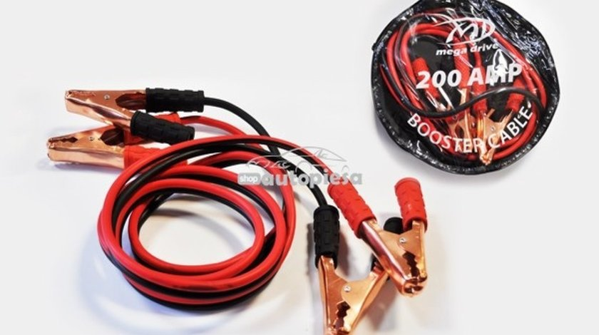 Cabluri pornire 200A 2.5 metri MEGA DRIVE 43714 - produs NOU