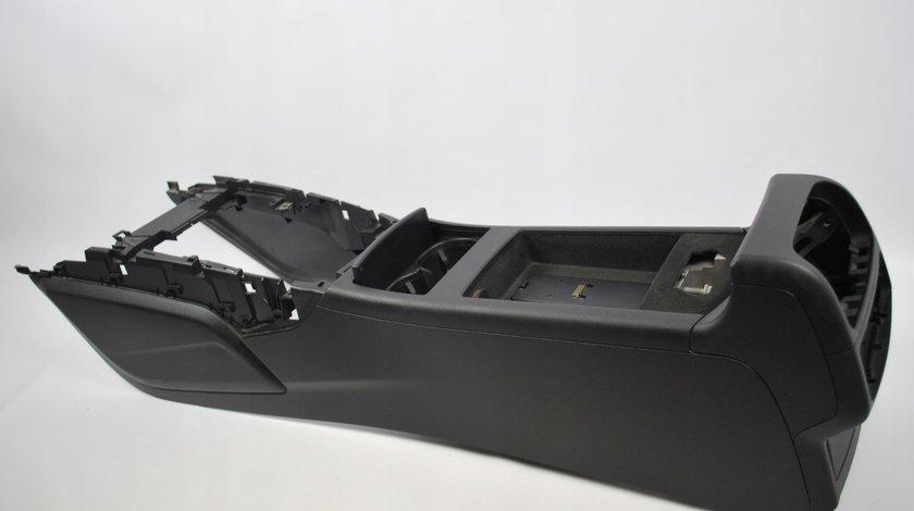 Cal cu cotiera de piele neagra si suport pahare Audi A6 / A7 2011- 2017 cod: 4G0862534 6PS