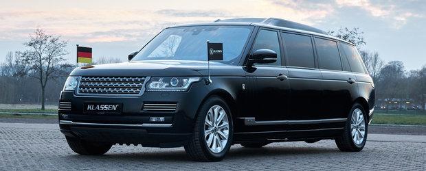 Calatoreste ca un presedinte de stat la bordul acestui Range Rover cu sapte portiere, motor V8 si protectie la gloante