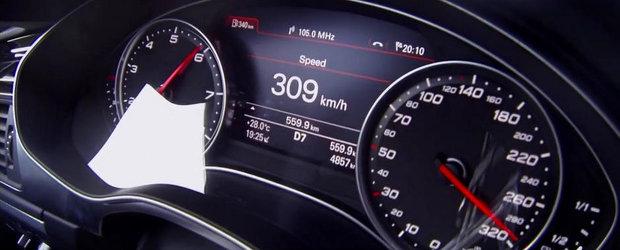 Calatorie la 300+ km/h: Audi RS7 ia cu asalt Autobahn-ul!