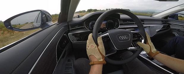 Calci pedala si x,x secunde mai tarziu esti la 100 de km/h. Test de acceleratie cu noul Audi A8 de 340 de cai