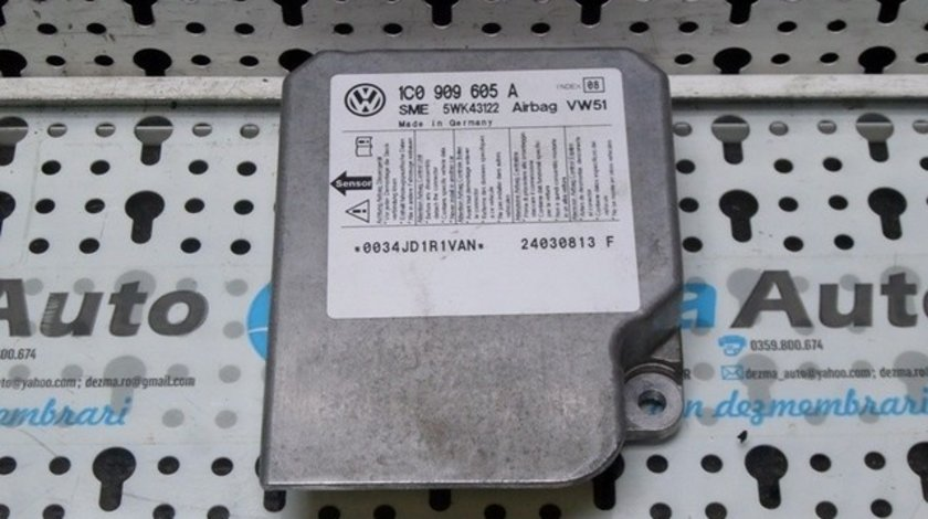 Calculator airbag, 1C0909605A, Vw Bora (1J2) 1.9 tdi (id:191966)