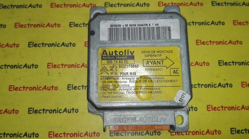 Calculator airbag Citroen 550748300, 9637176880
