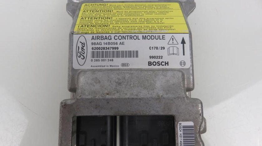 Calculator airbag Ford Focus I cod: 98AG14B056AE 0285001248