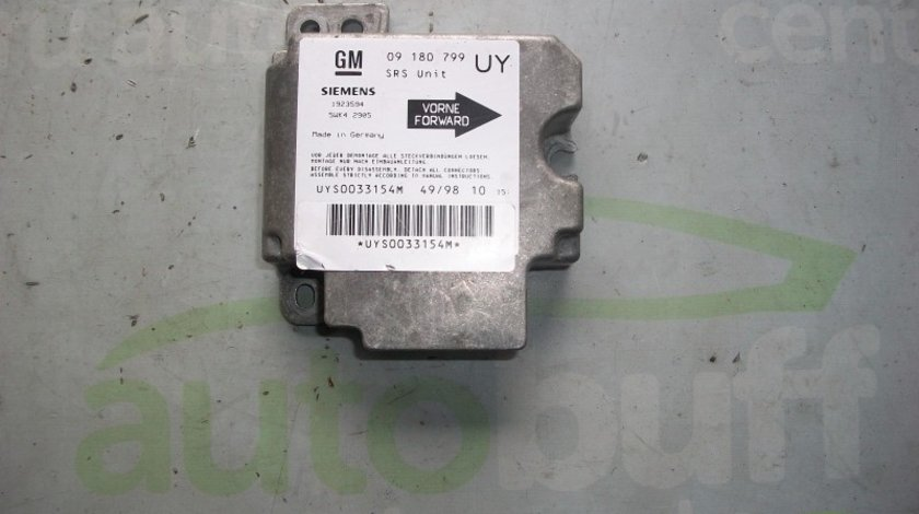 Calculator Airbag Opel Astra G 1.7d-09180799
