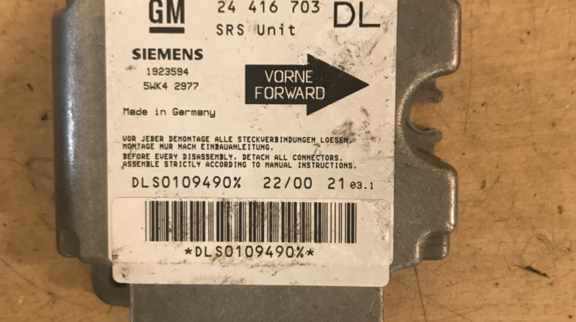 Calculator airbag opel astra g cod: 24416703DL