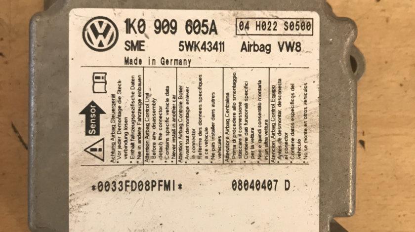 Calculator airbag vw golf 5 2004 - 2009 cod: 1k0909605a