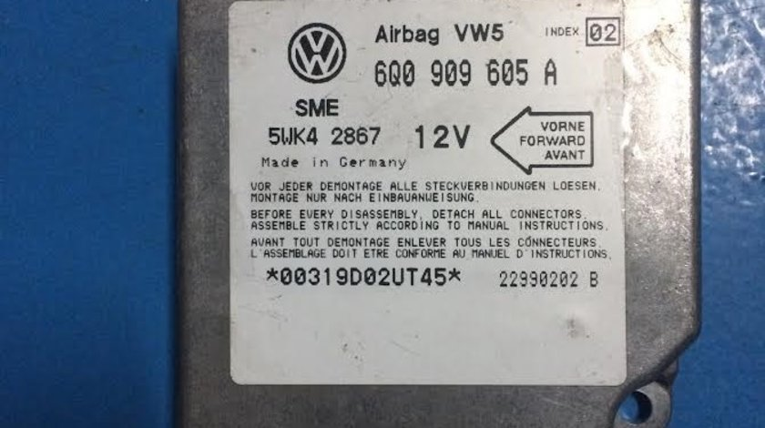 Calculator airbag VW Volkswagen Golf 4 an 1997 - 2004 cod  6Q0909605A