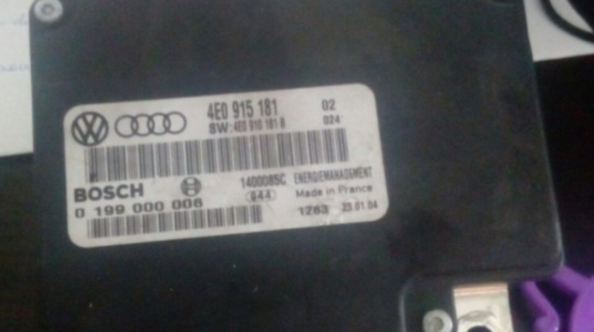 Calculator Baterie audi 4e0 915 181 audi a8 2002-2009