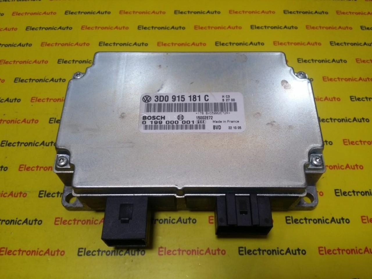 Calculator Baterie Vw Phaeton, 3D0915181C, 0199000001