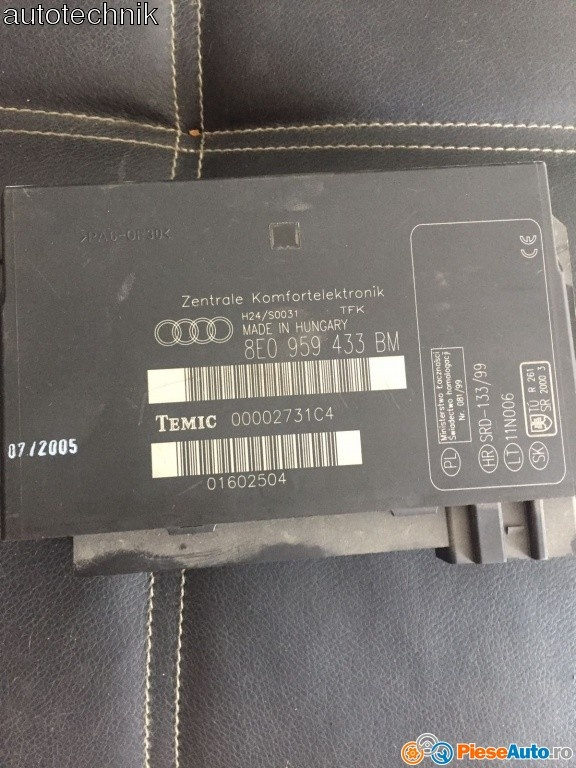 Calculator confort audi a4 b7 cod 8e0959433bm