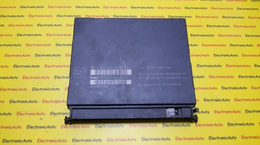 Calculator confort Mercedes S Class A2218702086, 00002554