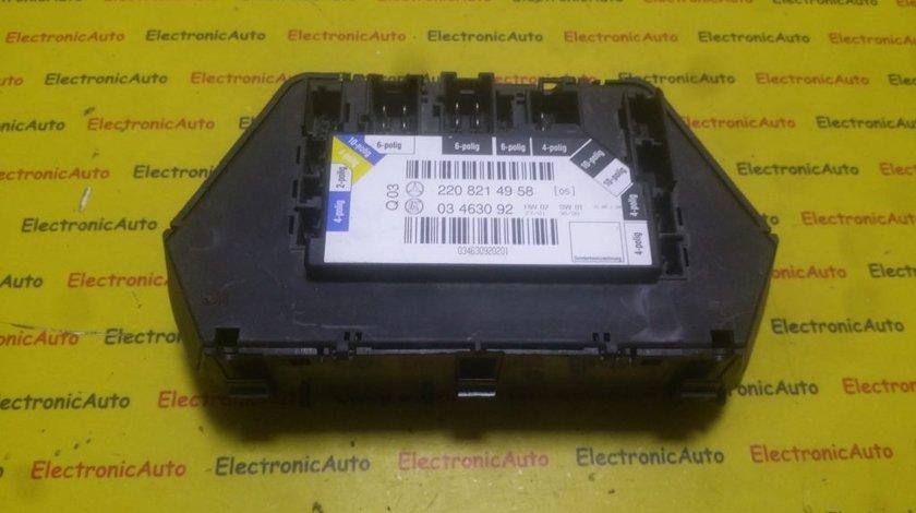 Calculator confort Mercedes W220 S Class 2208214958, 03463092