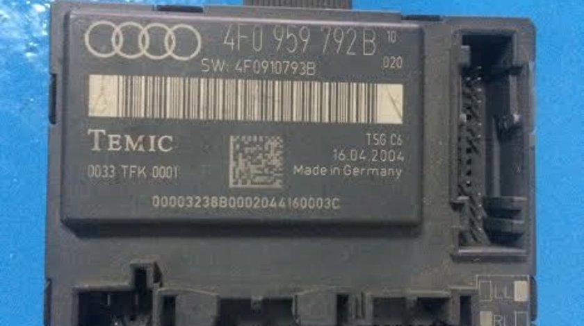 Calculator confort usa dreapta fata Audi A6 4F C6 an 2004 - 2011 cod 4F0959792B