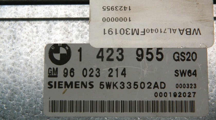 Calculator cutie automata Bmw Seria 5 E39 2.0 D cod: 1423955 / 96023214 model 2000