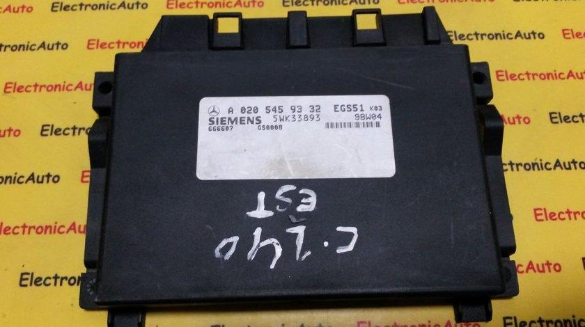 Calculator cutie automata Mercedes Benz A0205459332