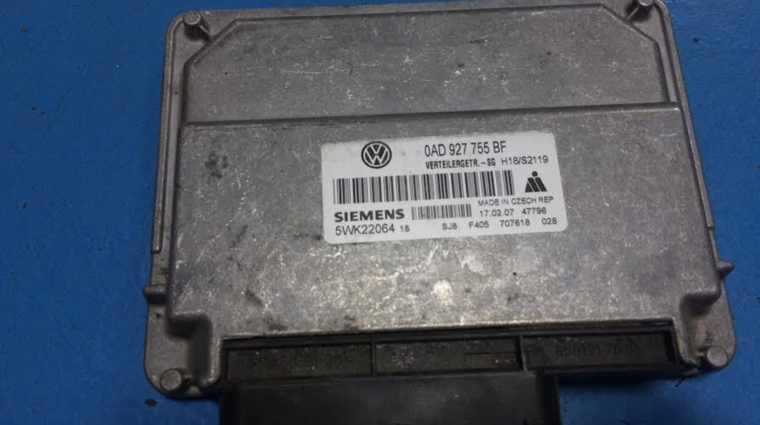 Calculator cutie transfer VW Touareg 7LA, 7L6, 7L7 2002-2010 2.5 tdi BAC 0AD927755BF