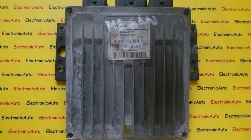 Calculator ECU motor Renault Megane 1.5DCI 8200334419, 8200374152