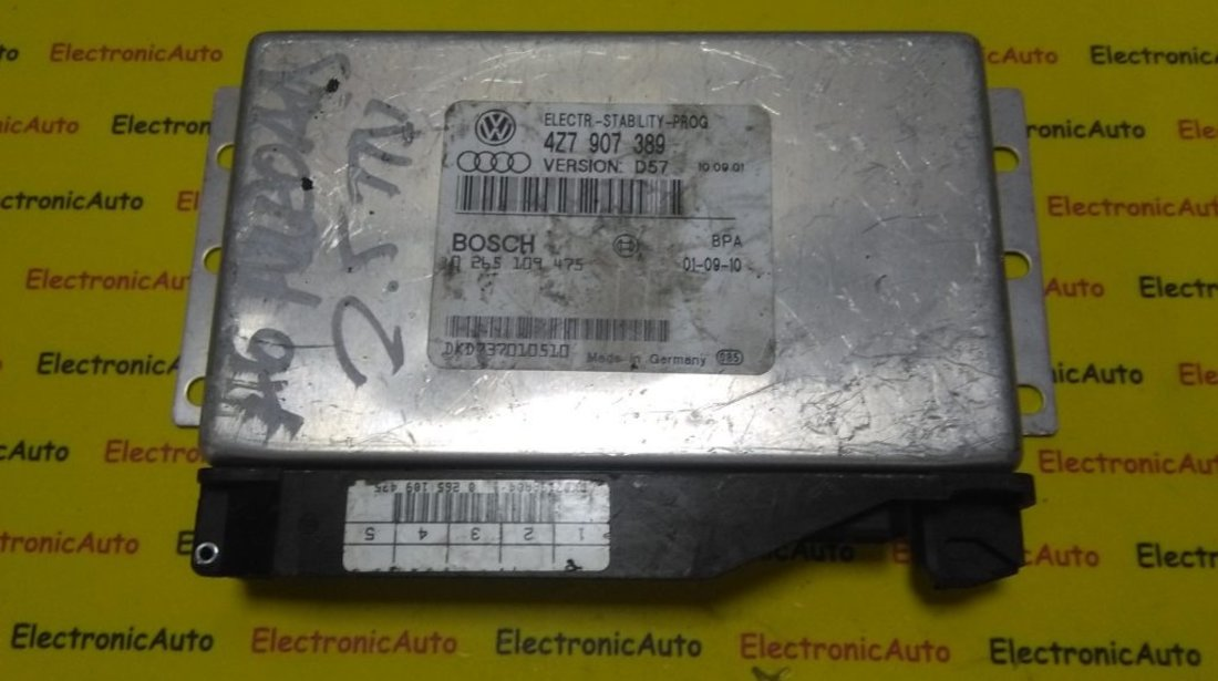 Calculator ESP Audi A6 Allroad 0265109475, 4Z7907389