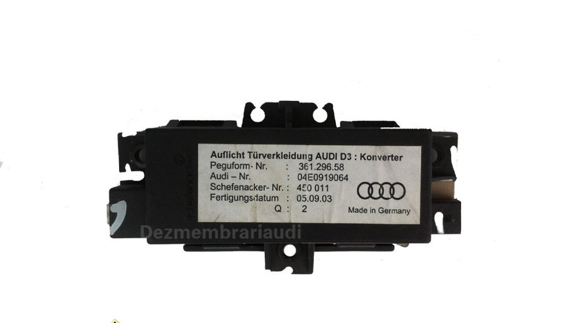 Calculator lumini ambientale AUDI A8 D3 4E an 2003 - 2010 cod 4E0919064 / 04E919064