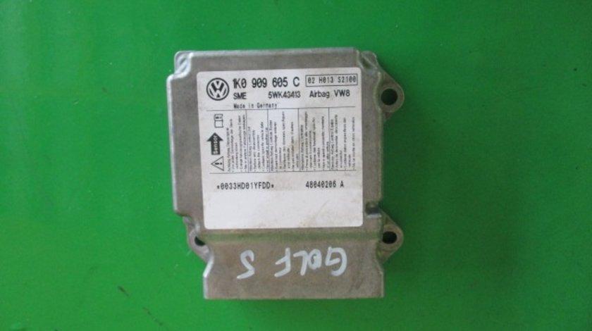 CALCULATOR / MODUL AIRBAG 1K0909605C VW GOLF 5 FAB. 2003 - 2009 ⭐⭐⭐⭐⭐