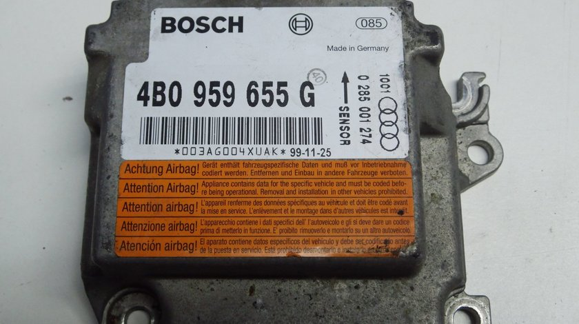 Calculator, modul airbag AUDI A6 (C5) Cod: 4B0959655G