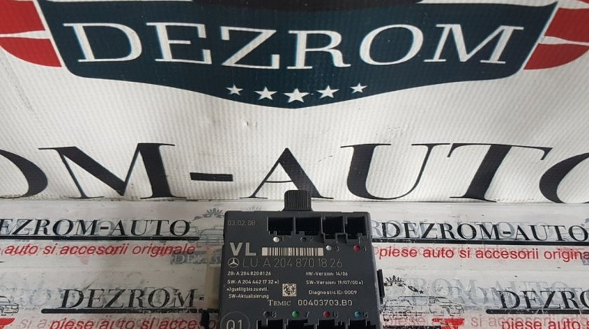 Calculator / Modul confort usa stanga fata Mercedes C-Class W204 a2048701826