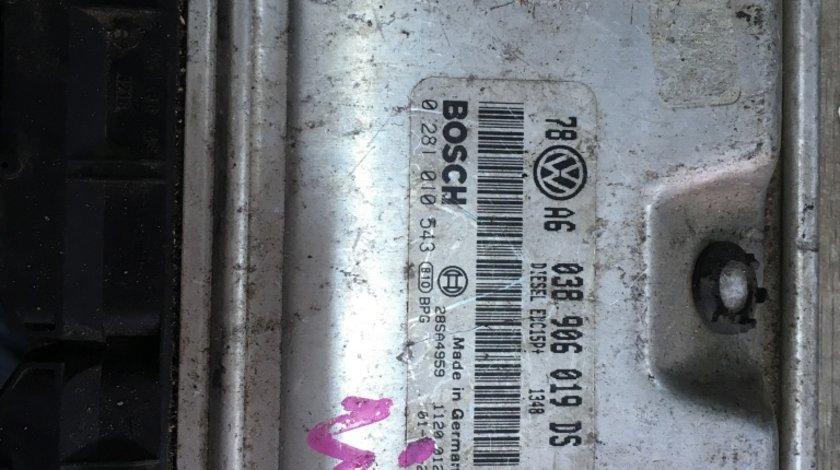 Calculator motor 038906019DS 0281010543 Vw Passat 1,9 Tdi 131 cp avf awx