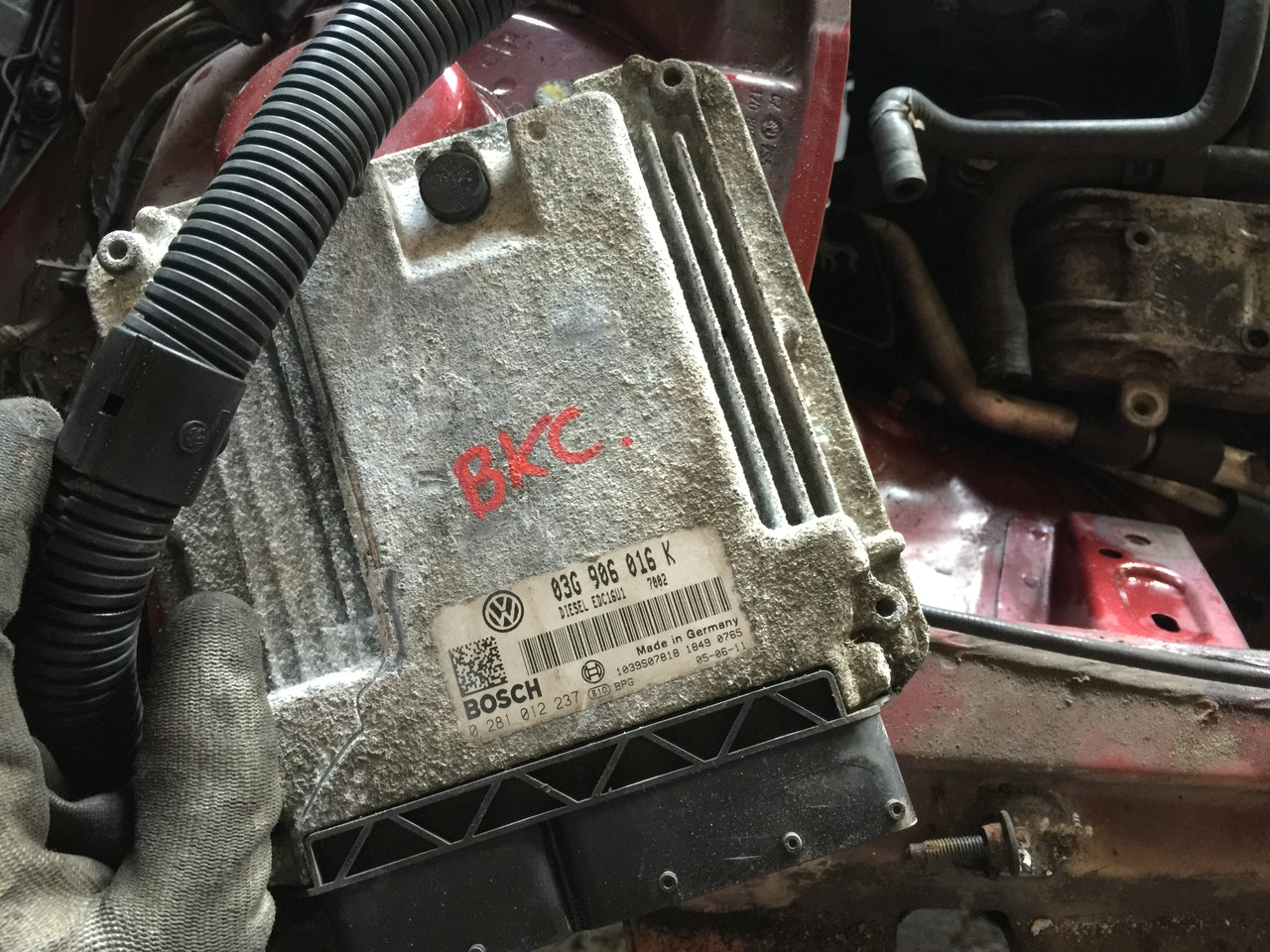 Calculator motor 03G906016K Skoda Octavia 2 1.9tdi, BXE