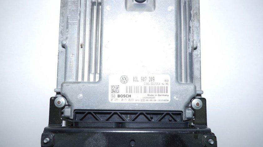 Calculator motor 03L907309, 0281015029, Vw Passat (3C) 2.0tdi, CBAB