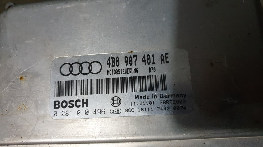 CALCULATOR MOTOR AUDI A6 2.5 TDI COD 4B0907401AE