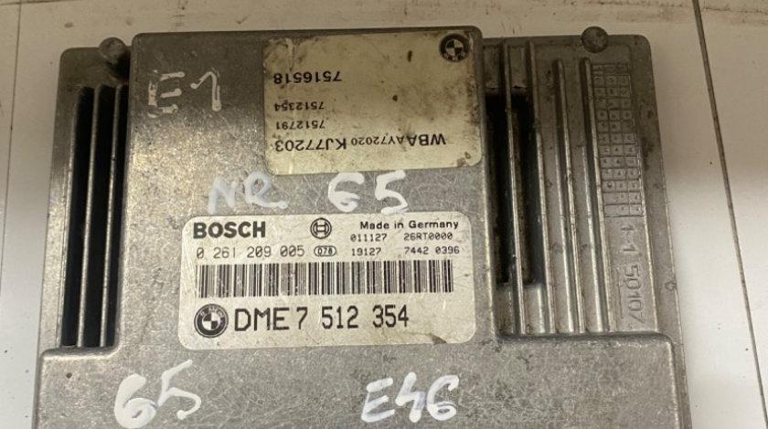 Calculator motor Bmw 318 2.0 DME7512354 0261209005 ME9.2 E46 +