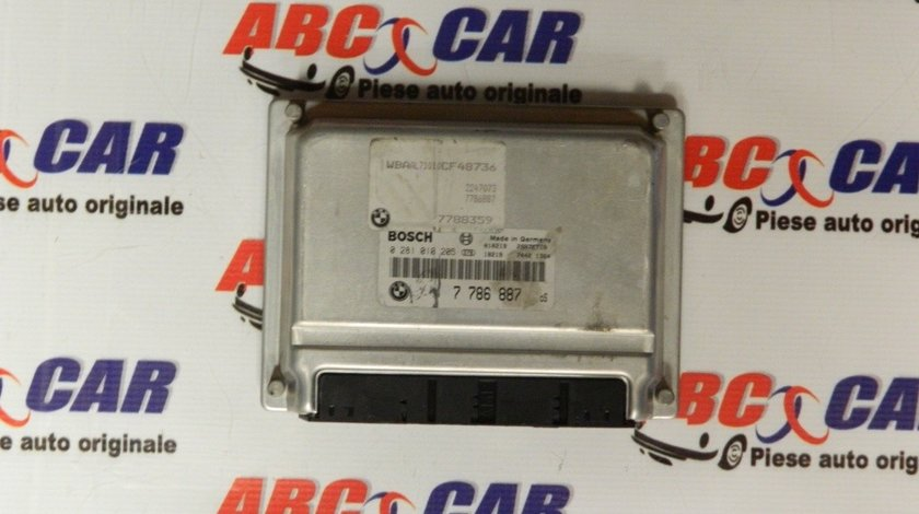 Calculator motor BMW Seria 3 E46 2.0 D cod: 7786887 / 0281010205 model 2003