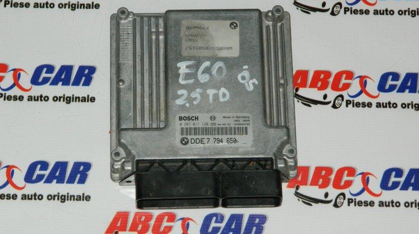 Calculator motor BMW Seria 5 E60 2.5d Cod: 7794650 , 0281011120