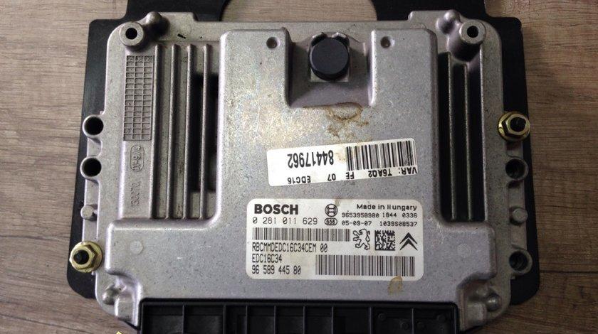 Calculator motor Citroen C4 1 6 hdi 2005 cod 0281011629