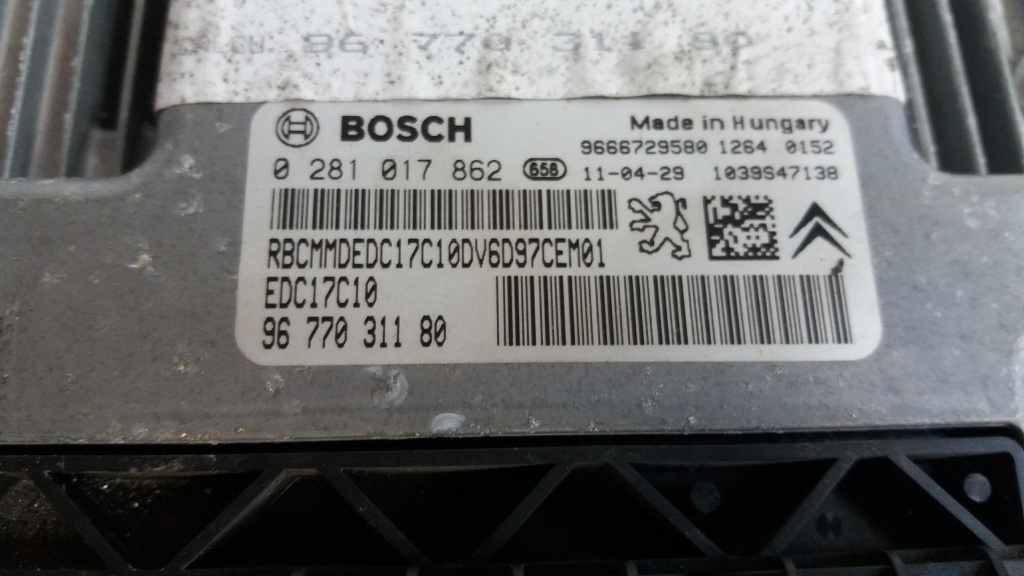 Calculator motor citroen c4 1.6 hdi 2011 9677031180 0281017862