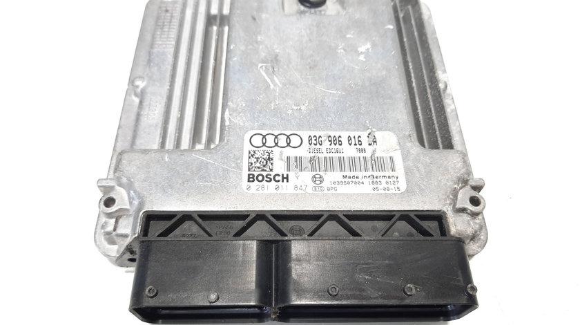 Calculator motor, cod 03G906016BA, 0281011847, Seat Altea (5P1), 2.0 TDI, BKD (idi:491614)
