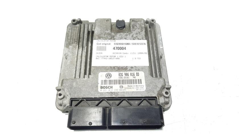 Calculator motor, cod 03G906016BD, 0281012236, Skoda Octavia 2 Combi (1Z5) 1.9 tdi, BKC (id:470004)