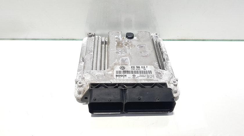 Calculator motor, cod 03G906016F, 0281011391, Seat Altea (5P1), 2.0 TDI, BKD (idi:404641)