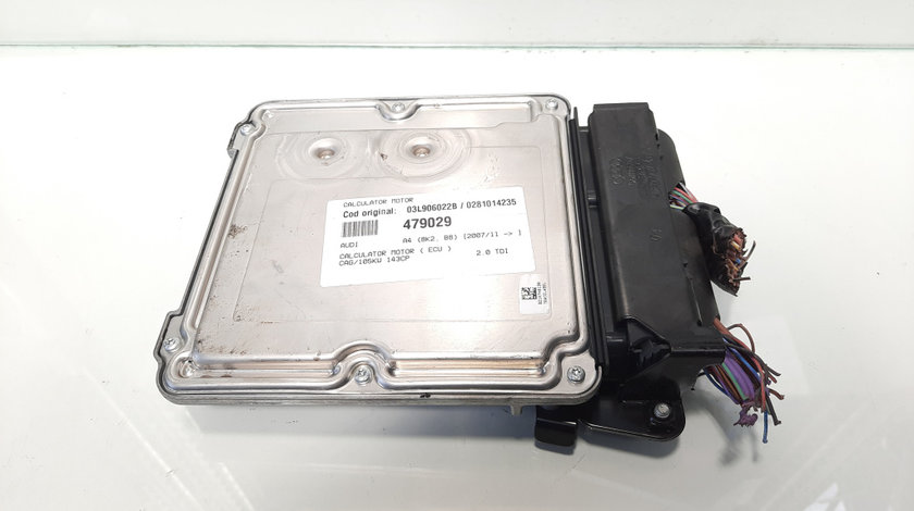 Calculator motor, cod 03L906022B, 0281014235, Audi A4 (8K2, B8) 2.0 tdi, CAG (id:479029)