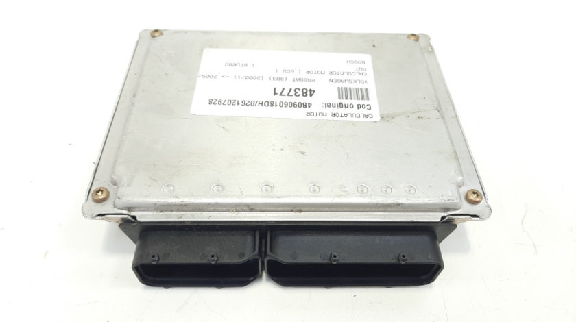 Calculator motor, cod 4B0906018DH, 0261207928, Skoda Superb I (3U4), 1.8 turbo, AWT (idi:483771)